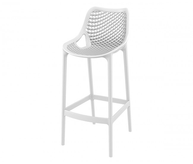 Бар стол Еър, полипропилен - бял