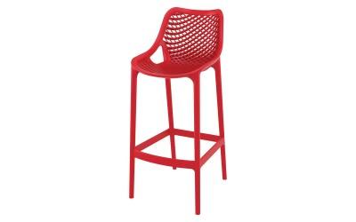 Бар стол Еър, полипропилен - червен