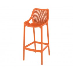 Бар стол Еър, полипропилен - оранжев