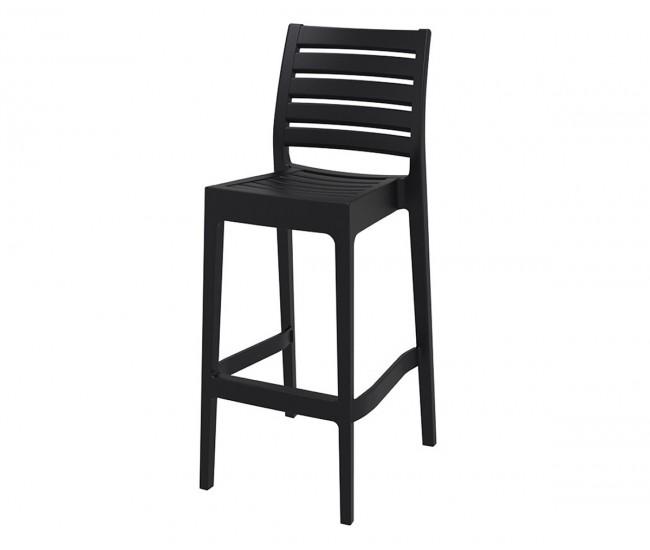 Пластмасов бар стол Арес - черен
