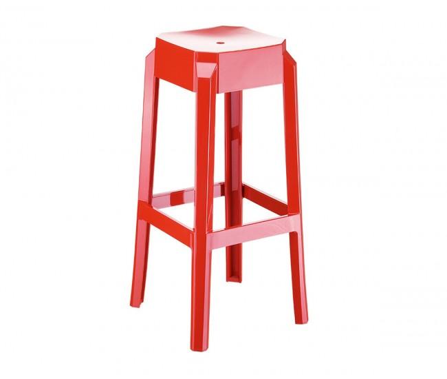 Бар стол Фокс, поликарбонат - червен