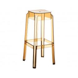 Бар стол Фокс, поликарбонат - кехлибар прозрачен