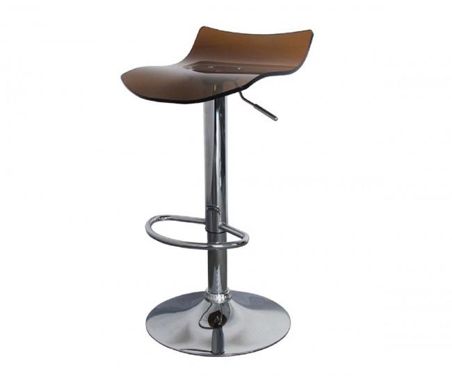 Бар стол Калипсо 10, въртящ - кехлибар прозрачен