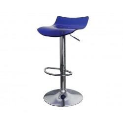Бар стол Калипсо 10, въртящ - тъмносин прозрачен