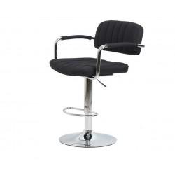 Бар стол Калипсо-13 с подлакътник, въртящ - черен текстил