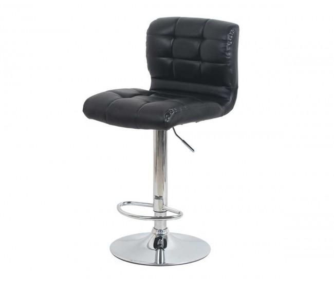 Бар стол Калипсо-15, въртящ - черна еко кожа