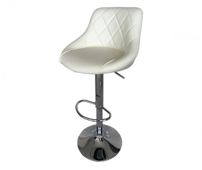 Бар стол Калипсо-16, въртящ - бежова еко кожа