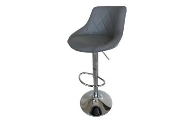 Бар стол Калипсо-16, въртящ - сива еко кожа
