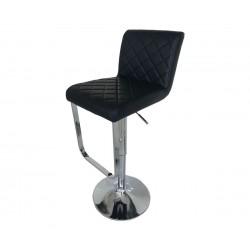 Бар стол Калипсо-17, въртящ - черна еко кожа