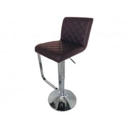 Бар стол Калипсо-17, въртящ - кафява еко кожа