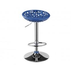 Бар стол Калипсо-2, въртящ - син