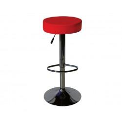 Бар стол Калипсо-3, въртящ - червена еко кожа