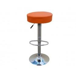 Бар стол Калипсо-3, въртящ - оранжева еко кожа