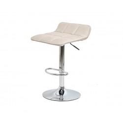 Бар стол Калипсо-5, въртящ - бежов текстил