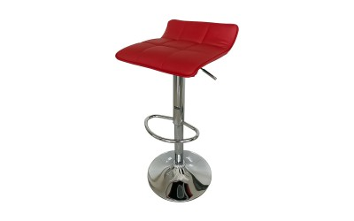 Бар стол Калипсо-5, въртящ - червена еко кожа