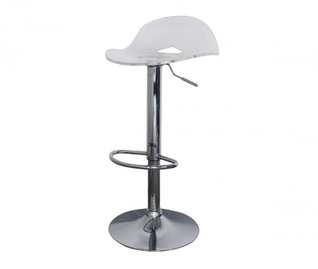 Бар стол Калипсо-9, въртящ - прозрачен