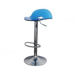 Бар стол Калипсо-9, въртящ - светлосин прозрачен