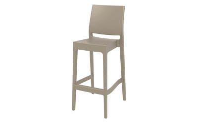 Бар стол Мая, полипропилен - бежов
