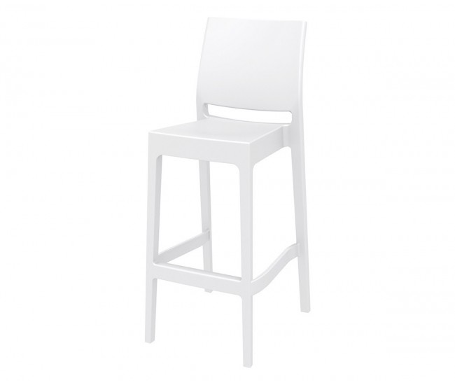 Бар стол Мая, полипропилен - бял