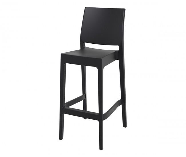 Бар стол Мая, полипропилен - черен