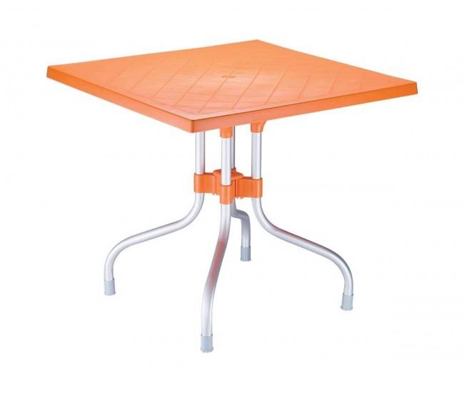 Полипропиленова градинска маса Форца 80/72 см - оранжева