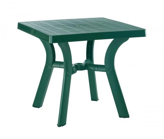 Пластмасова градинска маса Вива - зелена
