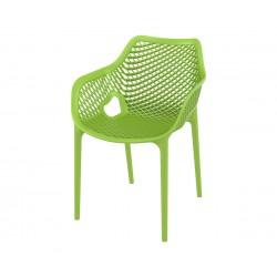 Полипропиленов градински стол Еър XL, подлакътници - резеда