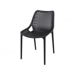 Полипропиленов градински стол Еър - черен