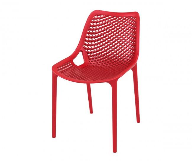 Полипропиленов градински стол Еър - червен