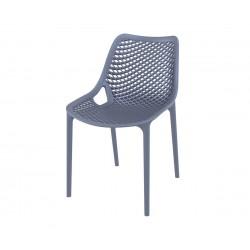 Полипропиленов градински стол Еър - тъмносив