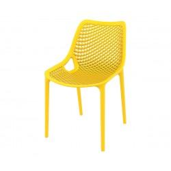 Полипропиленов градински стол Еър - жълт