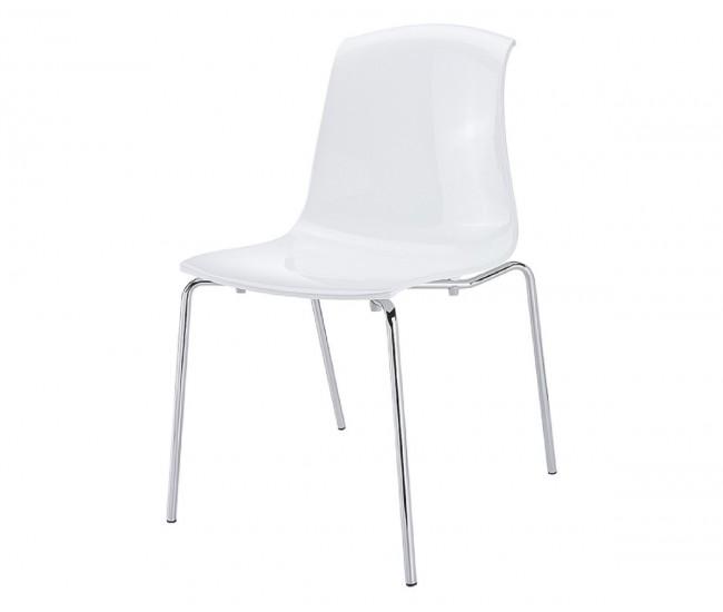Градински стол Алегра, поликарбонат - бял