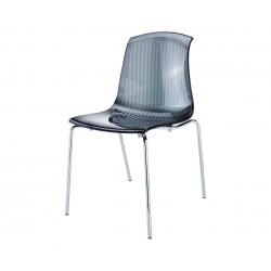 Градински стол Алегра, поликарбонат - черен прозрачен