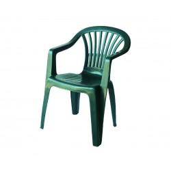 Пластмасов градински стол с подлакътници Алтея  - зелен