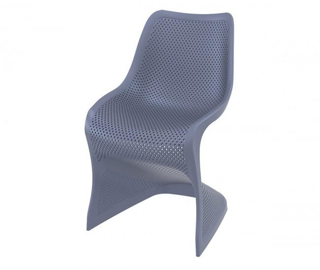 Полипропиленов градински стол Блум - антрацит