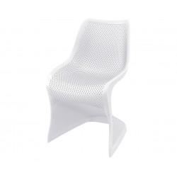 Полипропиленов градински стол Блум - бял