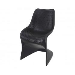 Полипропиленов градински стол Блум - черен