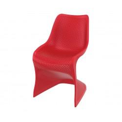 Полипропиленов градински стол Блум - червен