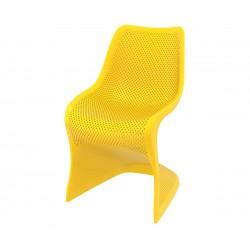 Полипропиленов градински стол Блум - жълт