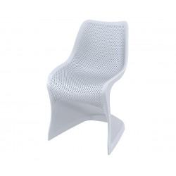 Полипропиленов градински стол Блум - светлосив