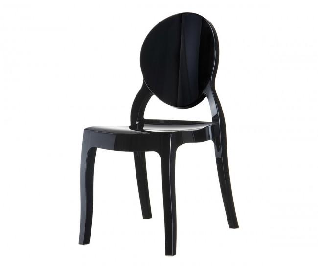 Градински стол Елизабет, поликарбонат - черен