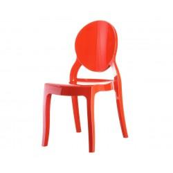 Градински стол Елизабет, поликарбонат - червен