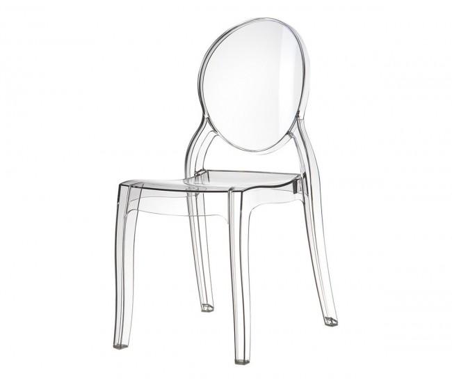 Градински стол Елизабет, поликарбонат - прозрачен