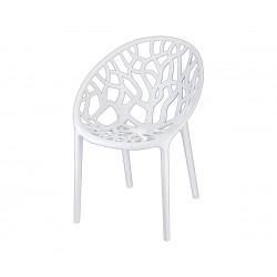 Градински стол Кристал, поликарбонат - бял
