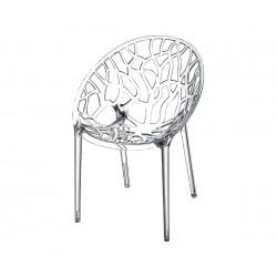 Градински стол Кристал, поликарбонат - прозрачен