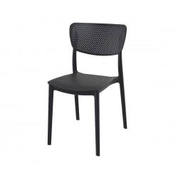 Полипропиленов градински стол Люси - черен