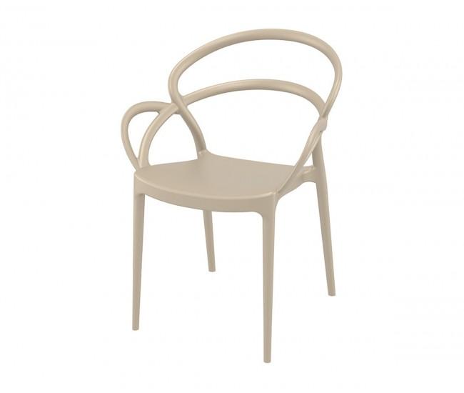 Полипропиленов градински стол Мила - бежов