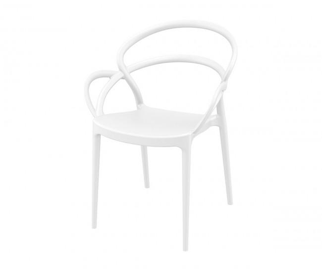 Полипропиленов градински стол Мила - бял