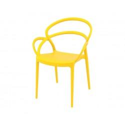Полипропиленов градински стол Мила - жълт