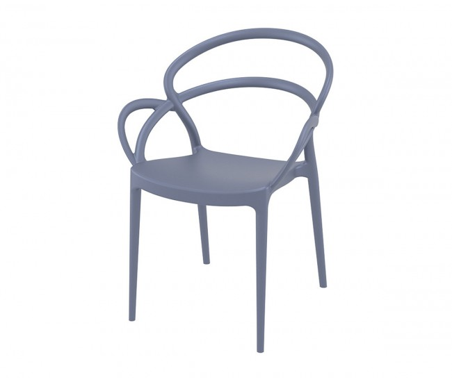 Полипропиленов градински стол Мила - сив